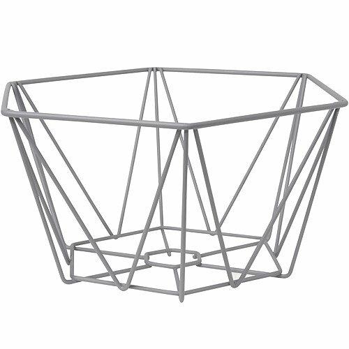 《DANICA》幾何格紋水果籃(灰)