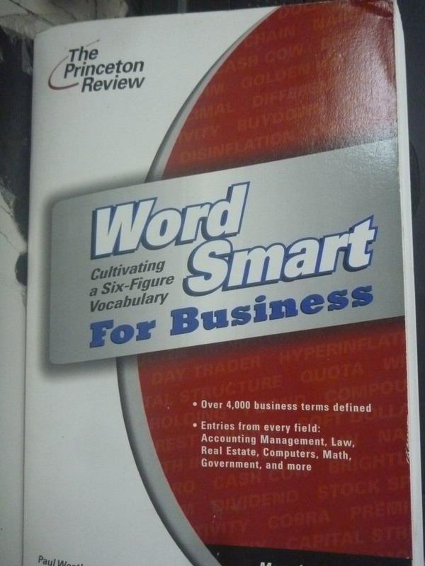 ~書寶 書T4/字典_XFX~Word Smart for Business_Paul W