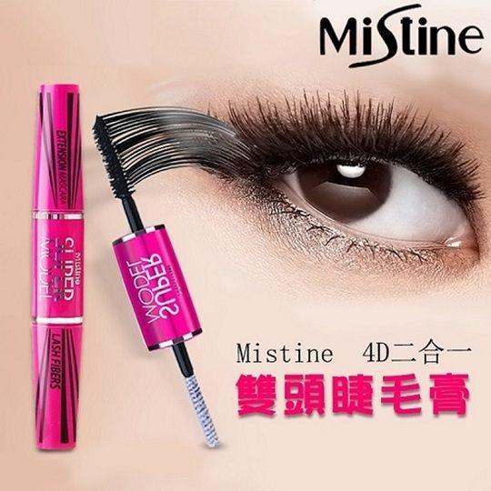 泰國 Mistine~ 4D二合一纖長濃密雙頭睫毛膏(5.5g) MISSFOX IF0250