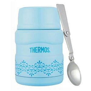 THERMOS 膳魔師 不銹鋼真空保溫食物罐-海洋歐蕾 (SK3000MR-SWB) 470ml