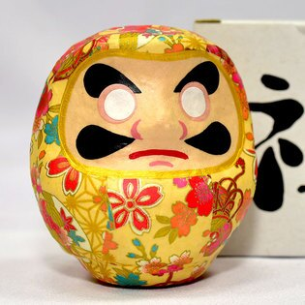 NOBA 不只是禮品:日本製心願成就開運花花達摩福神不倒翁櫻花花紋