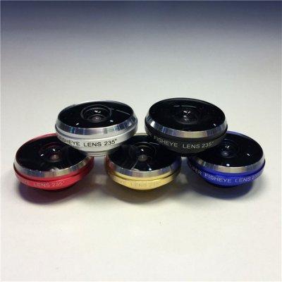 235度魚眼廣角二合一 蘋果 三星 小米 LG HTC 通用 多色 質感 夾子鏡頭 超級廣角【Parade.3C派瑞德】