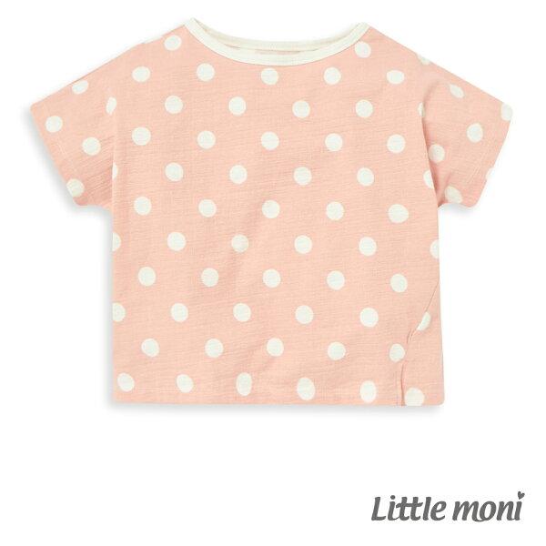 Littlemoni休閒點點上衣-粉紅