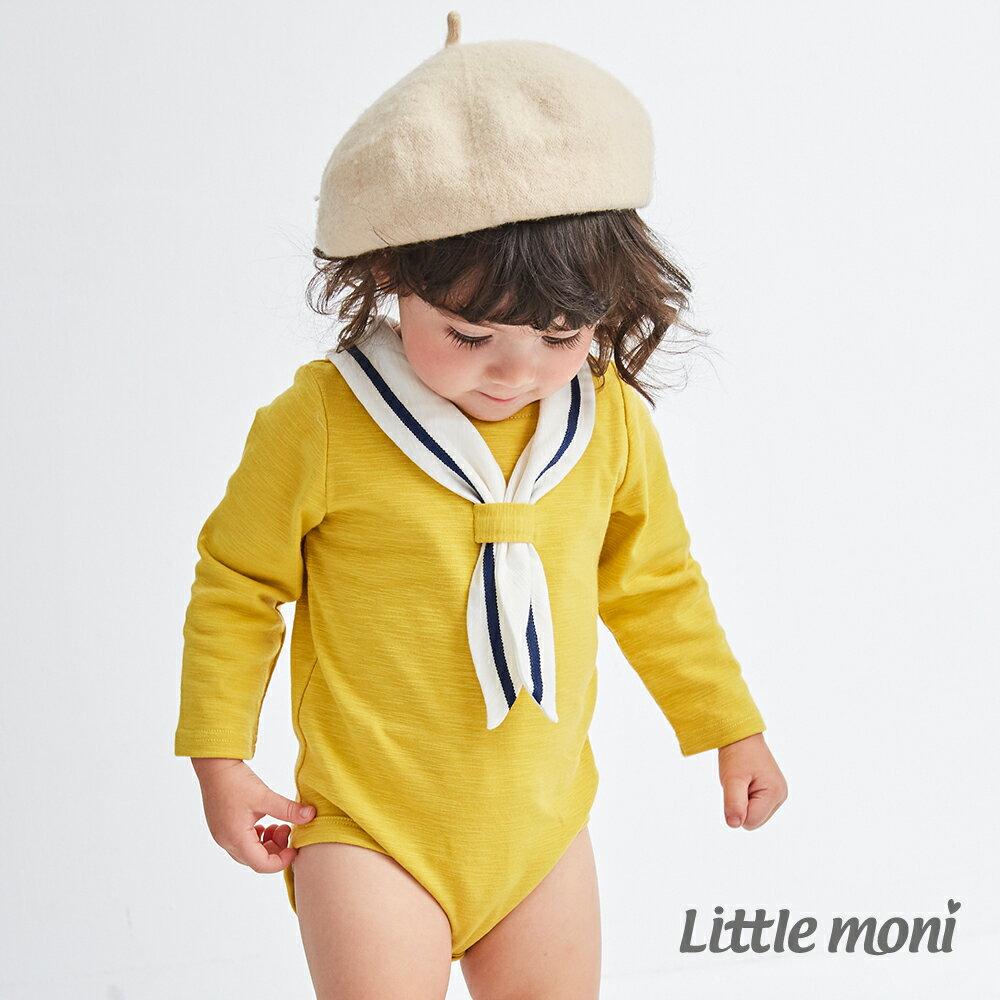 Little moni 海軍學院風包屁衣-黃色(好窩生活節) 1