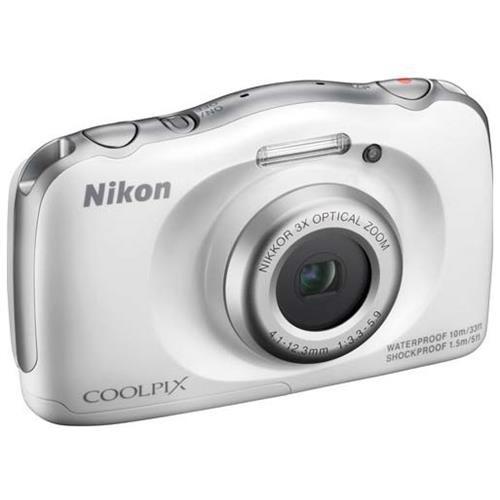 Nikon Coolpix S33 Shock & Waterproof Digital Camera (White) 0