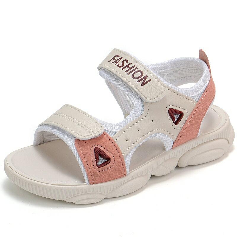 女童涼鞋2021夏季新款兒童公主女孩鞋子小童軟底防滑中大男童鞋潮 愛尚優品