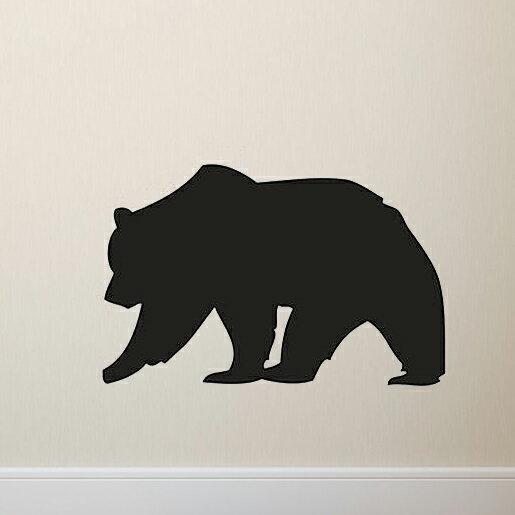 可移除黑板貼 壁貼 背景貼 時尚組合壁貼 璧貼 黑板貼- 棕熊 【YV4075】 快樂生活網