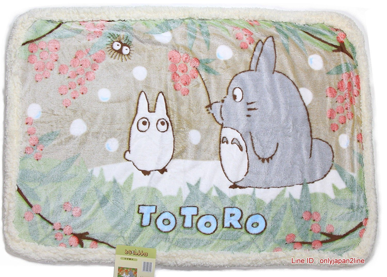 【真愛日本】16120400004滾邊毛毯-灰龍貓紅莓   龍貓 TOTORO 豆豆龍  冷氣毯 懶人毯