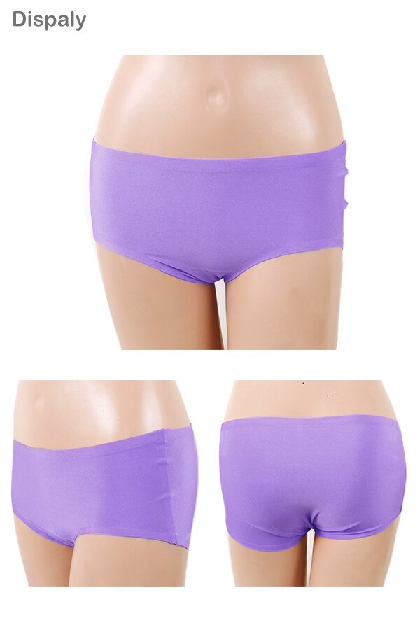 【Emon】親膚 零著感無痕三角褲(紫) 1