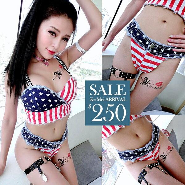 ☆克妹☆現貨+預購【ZT38754】日本JP獨家英國國旗DS風深V蜜桃臀牛仔短褲