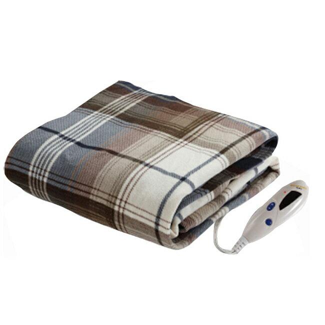 <br/><br/>  【BIDDEFORD】智慧型時尚格紋蓋式電熱毯 OTG-T<br/><br/>