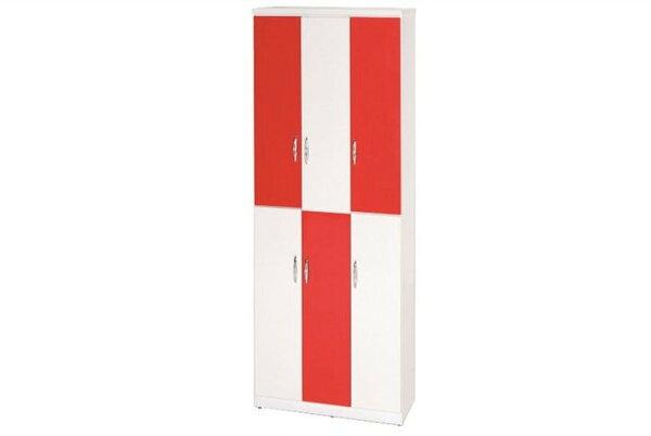 【石川家居】898-04(紅白色)鞋櫃(CT-334)#訂製預購款式#環保塑鋼P無毒防霉易清潔