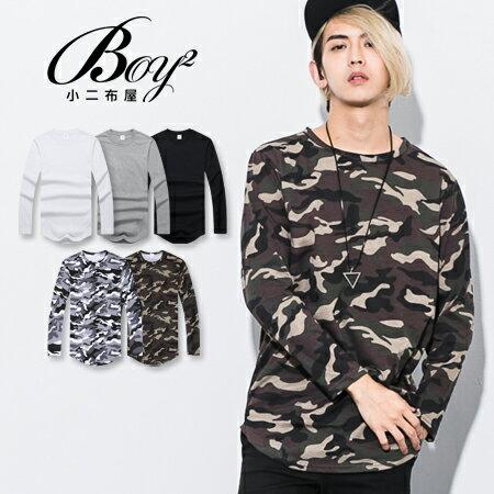 ☆BOY-2☆【PPK86133】韓版男裝下擺圓弧長版T恤 0