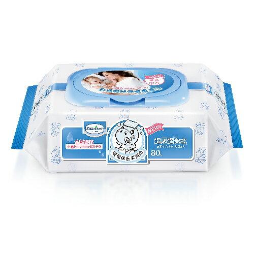 Baan 貝恩 嬰兒保養柔濕巾-無香料 80抽【24包/箱】+潔膚抗菌柔濕巾30抽x3包【悅兒園婦幼生活館】