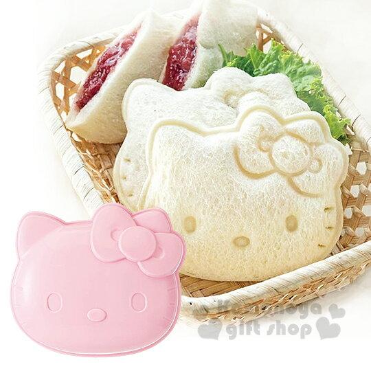 〔小禮堂〕Hello Kitty 日製吐司壓模《粉.大臉》創意便當輕鬆做