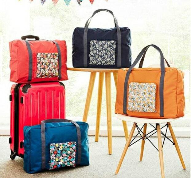 升級版折疊拉桿包收納袋 大容量旅游戶外防水收納包旅行衣物收納包拉杆箱整理袋手提包行李包創意可折疊