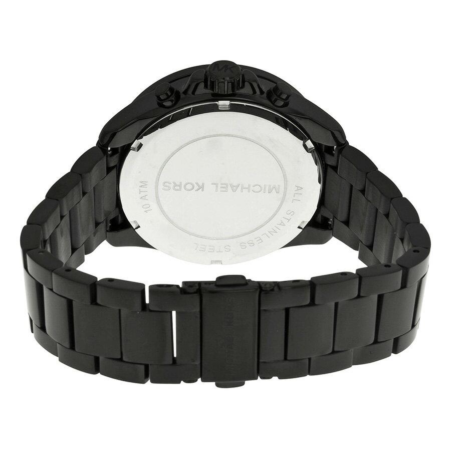【MICHAEL KORS】正品 閃耀玫瑰金色羅馬滿天星三環黑色陶瓷手錶 MK5879 1