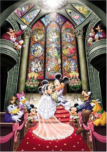 【進口拼圖】迪士尼 DISNEY-夢幻婚禮 雷射拼圖 500片 D-500-356