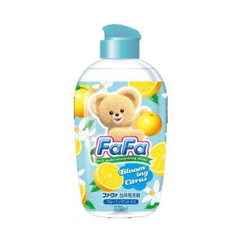 La maison生活小舖《小熊食器奶瓶蔬果洗碗精-柑橘香270ml》植物性洗碗精 可洗奶瓶、蔬果、調理用具 外出攜帶方便 可稀釋 日本製