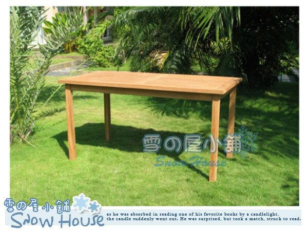 ╭☆雪之屋小舖☆╯TUW-052B柚木長方桌無孔休閒桌餐桌