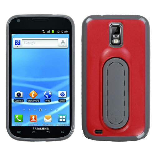 Red Snap Tail w/Pop-up Kick Stand Cover Case - T-Mobile Galaxy S II T989