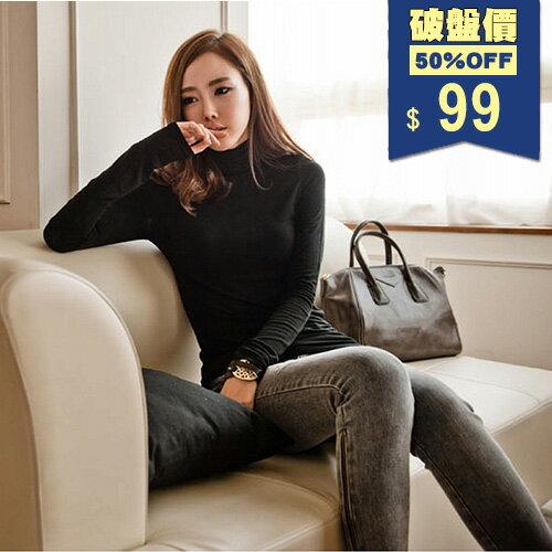 韓版馬卡龍高領芯柔刷毛保暖衣 長T 包飾衣院 Y1099 現貨+預購