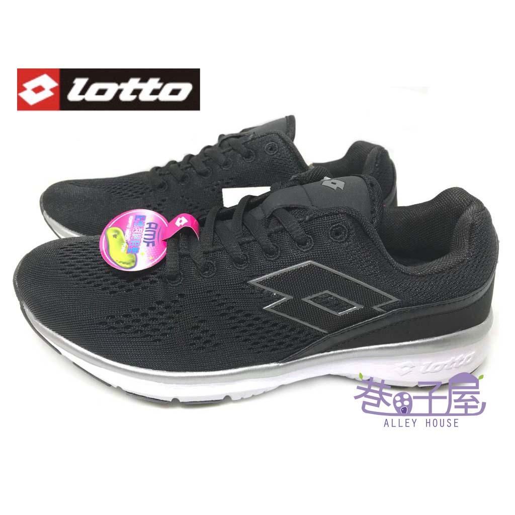 【巷子屋】義大利第一品牌-LOTTO樂得 女款編織輕旅樂活運動慢跑鞋 記憶鞋墊 [3480] 黑 超值價$590