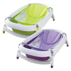 Karibu 凱俐寶 Mega折疊式澡盆-綠色/紫色 (0-3歲)-附贈浴網