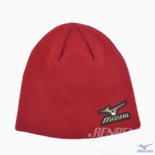 MIZUNO 美津濃 限量針織帽 (紅)  日本同步