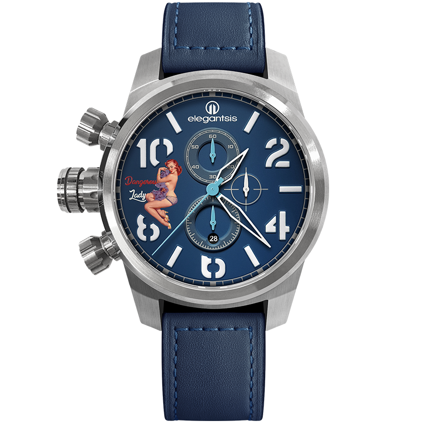 ELEGANTSIS  計時碼表石英錶(ELJF48Q-OU02LC) - 限時優惠好康折扣