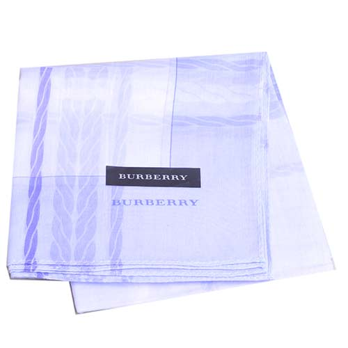 BURBERRY 經典字母LOGO麻花編格紋帕領巾(藍紫色)