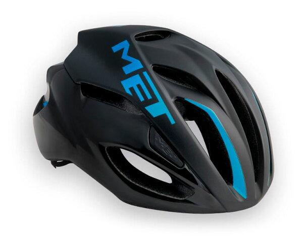 【7號公園自行車】Met2017RIVAL專業級空氣動力帽(黑漸層藍)