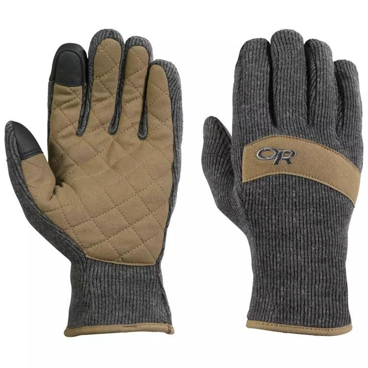 Outdoor Research 刷毛手套/羊毛保暖手套 Exit Sensor 243141 0890 炭灰