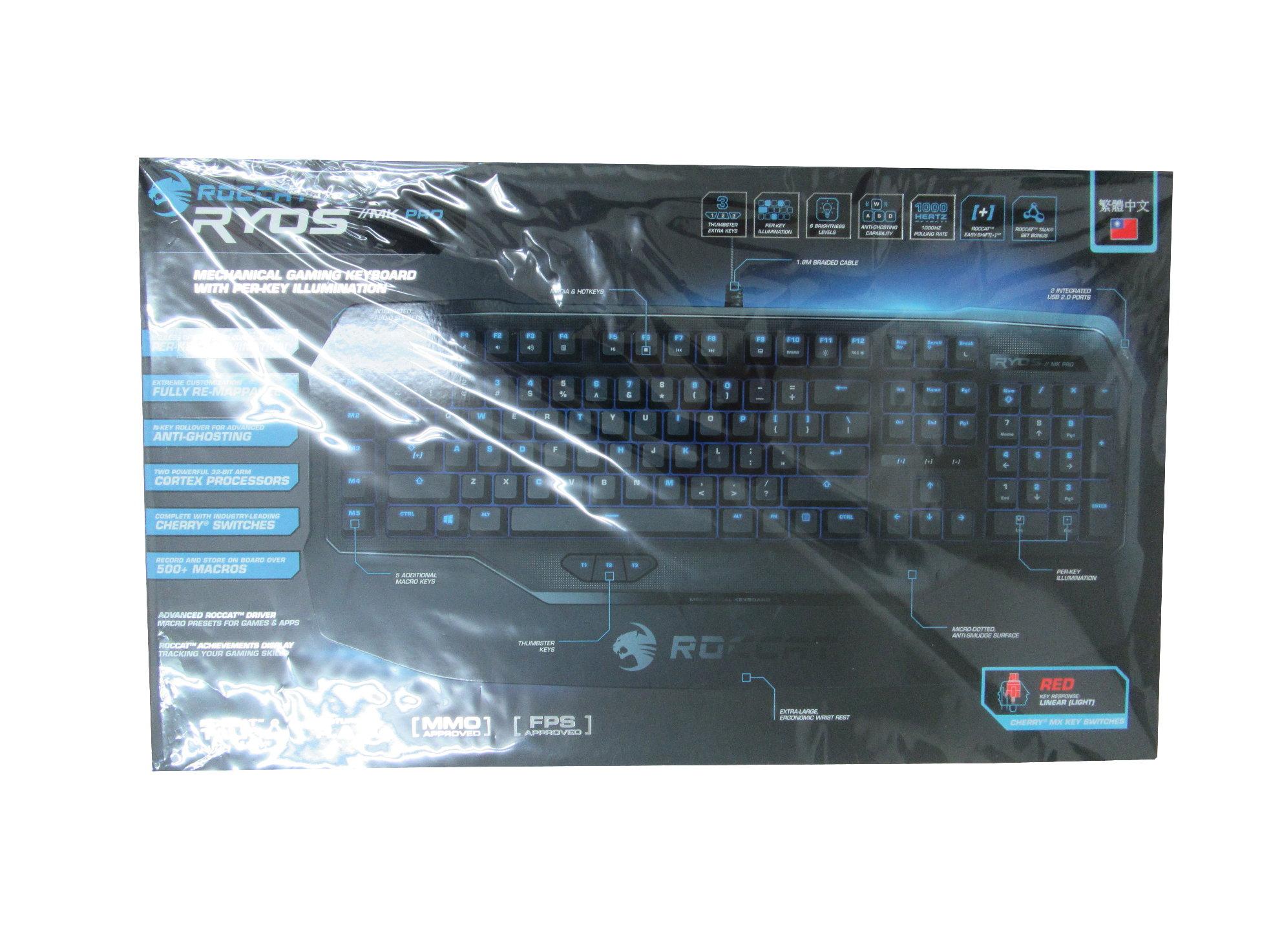 ★綠G能★電競必備★ROCCAT Ryos MK Pro 電競機械式鍵盤-紅軸中文