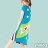 【Milida,全店七折免運】-夏季尾聲-拼貼款-古典人物插畫洋裝 2