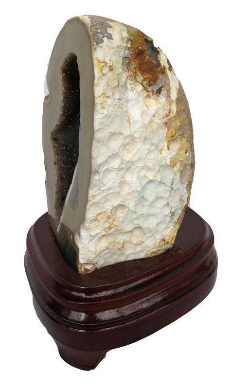 瑪瑙聚寶擺件1.24千克水晶聚寶盆瑪瑙洞