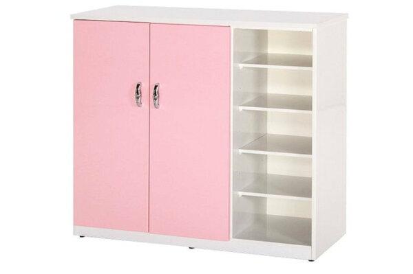 【石川家居】859-02(粉紅白色)鞋櫃(CT-317)#訂製預購款式#環保塑鋼P無毒防霉易清潔