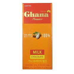 LOTTE Ghana Premier原味巧克力70g【愛買】