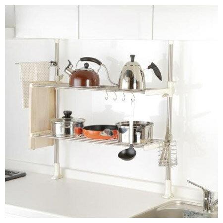 廚房收納不銹鋼支撐架2層NITORI宜得利家居