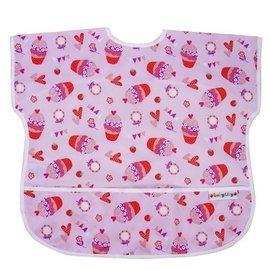 BabyCity娃娃城-防水短袖圍兜(1-3A)紅色杯子蛋糕199元