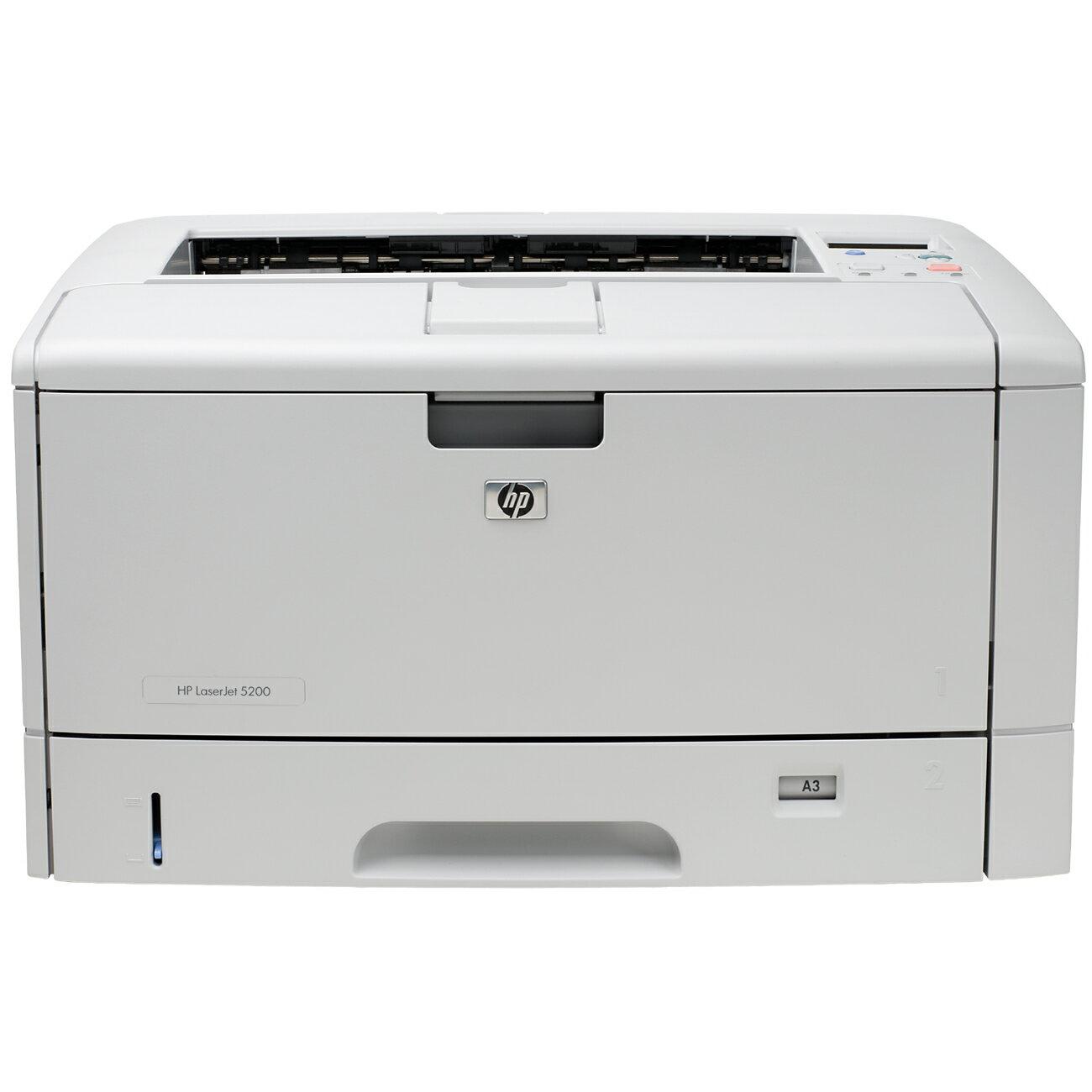 HP LaserJet 5000 5200 Laser Printer - Monochrome - 1200 x 1200 dpi Print - Plain Paper Print - Desktop - 35 ppm Mono Print - A3, A4, A5, A6, B4, B5, B6, B4 (JIS), B5 (JIS), B6 (JIS), C5 Envelope, ... - 350 sheets Standard Input Capacity - 65000 Duty Cycle 0