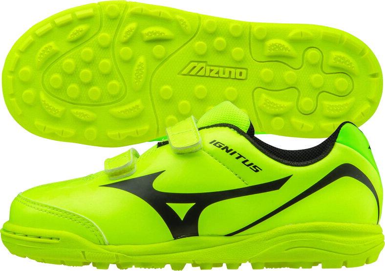 MIZUNO 美津濃 IGNITUS 4 KIDS AS 兒童足球鞋 (螢光綠)