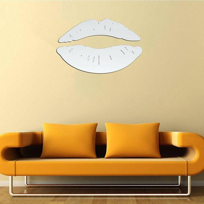 3D Lips Removable Decor Wall and Mirror Sticker 3