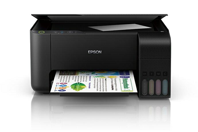 【加購墨水官網登錄送好禮】EPSON L3110 A4三合一原廠連續供墨印表機(隨機附1黑3彩)