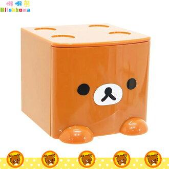拉拉熊 Rilakkuma 積木式迷你收納盒 積木盒 收納箱 置物盒 飾品盒 咖啡 日本進口正版 424381