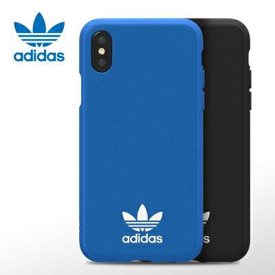 時代通訊:☆愛迪達【adidas】iPhoneX經典貼皮超薄貼皮背殼