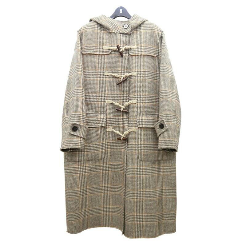 毛呢大衣羊毛外套-牛角扣經典連帽長版女外套2色73wb30【獨家進口】【米蘭精品】 0