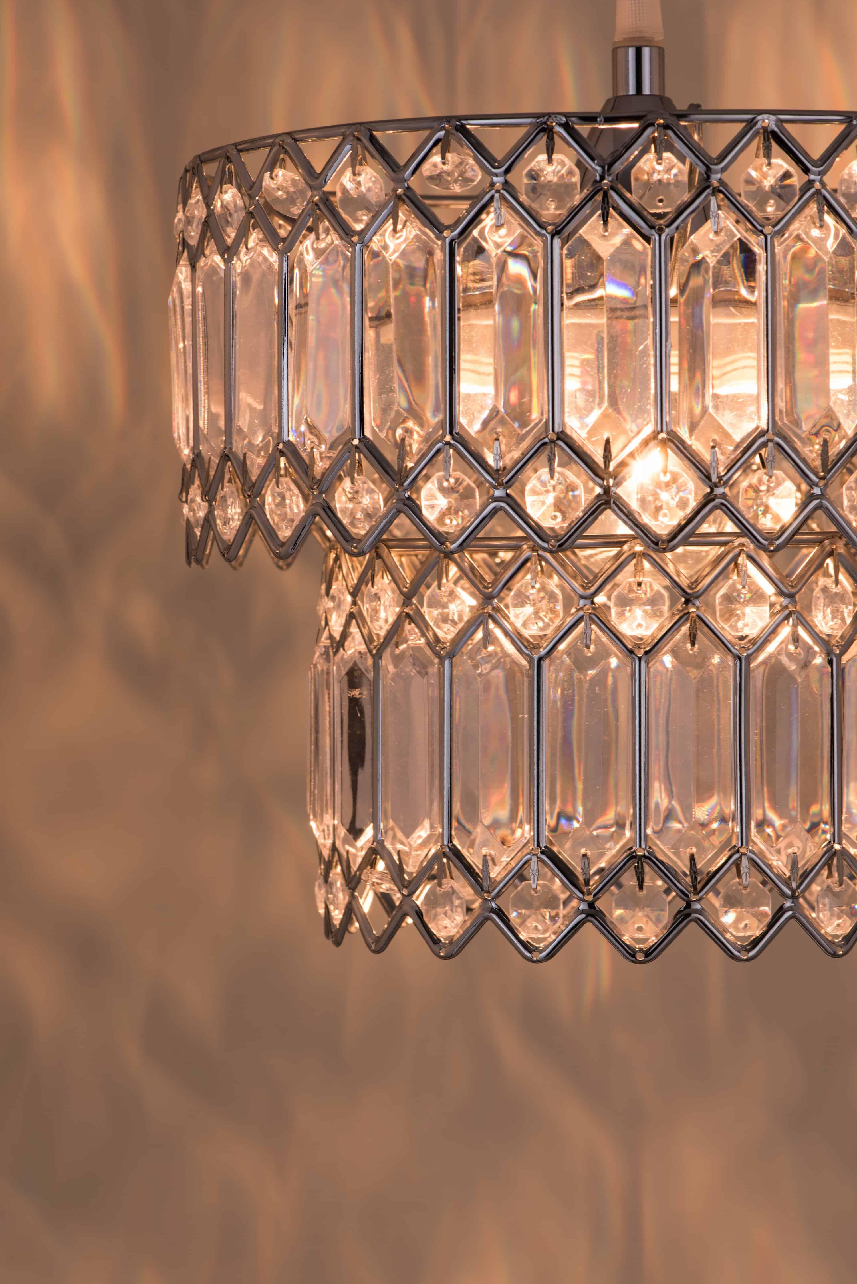 鍍鉻銀鐵花邊透明壓克立吊燈-BNL00056 7