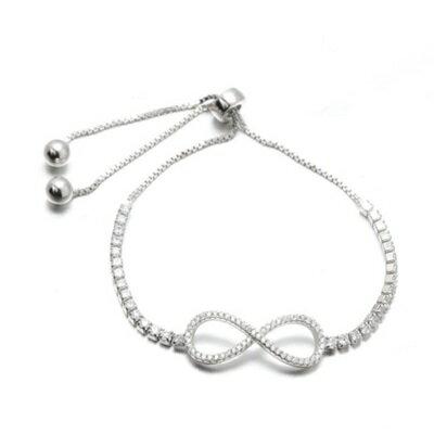 ~925純銀手鍊 鑲鑽手環~ 奢華氣質百搭情人節生日 女飾品73dl60~ ~~米蘭 ~