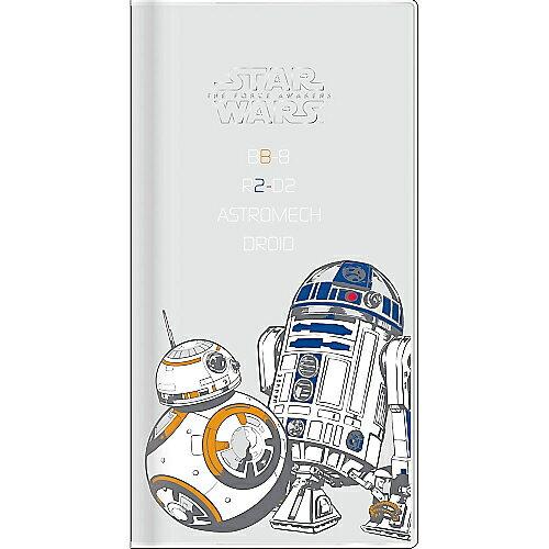 下殺64折《 STAR WARS 》星際大戰 - 2017年直式月間手帳 行事曆 ( BB-8 & R2-D2 )